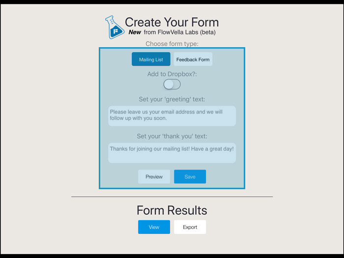 Create a Presentation Form - FlowVella