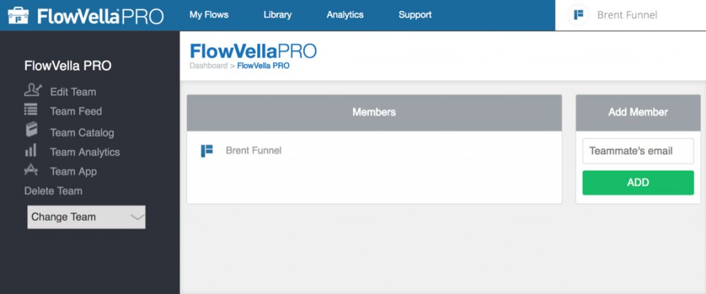 FlowVella PRO - Team Members